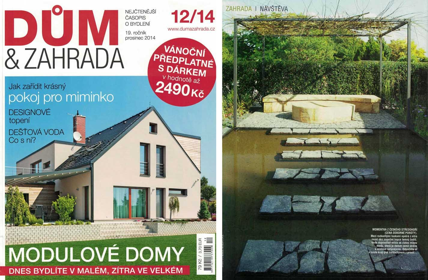 Dum a zahrada 12/2014 - Competition The Most Beautiful Garden (Bohemia Garden Exhibition)