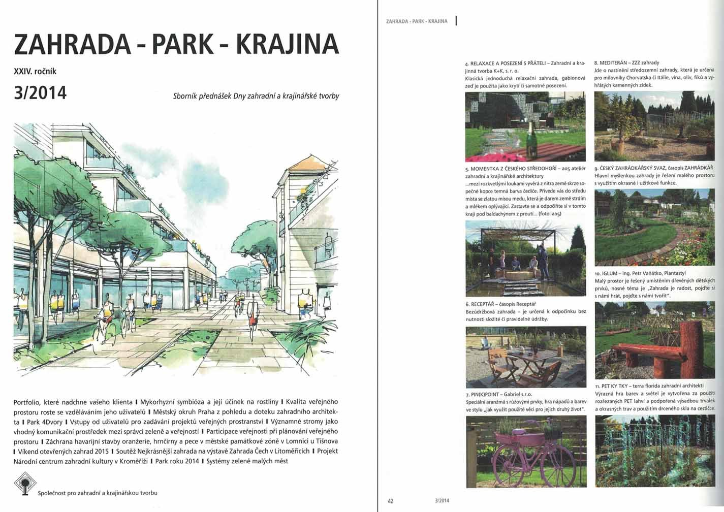 Zahrada Park Krajina 03/2014 - Competition The Most Beautiful  Garden (Bohemia Garden Exhibition)