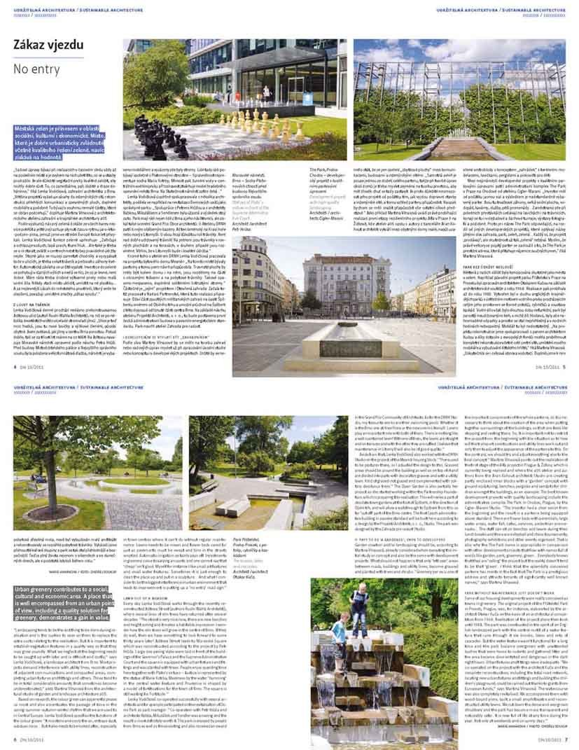 Development News 10/2011 - Interview about the importance of greenery in cities