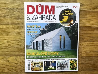 Magazine 'Dum a Zahrada' Published Our in Hodkovicky