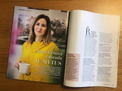 Interview with Martina Forejtová in Home & Garden Magazine