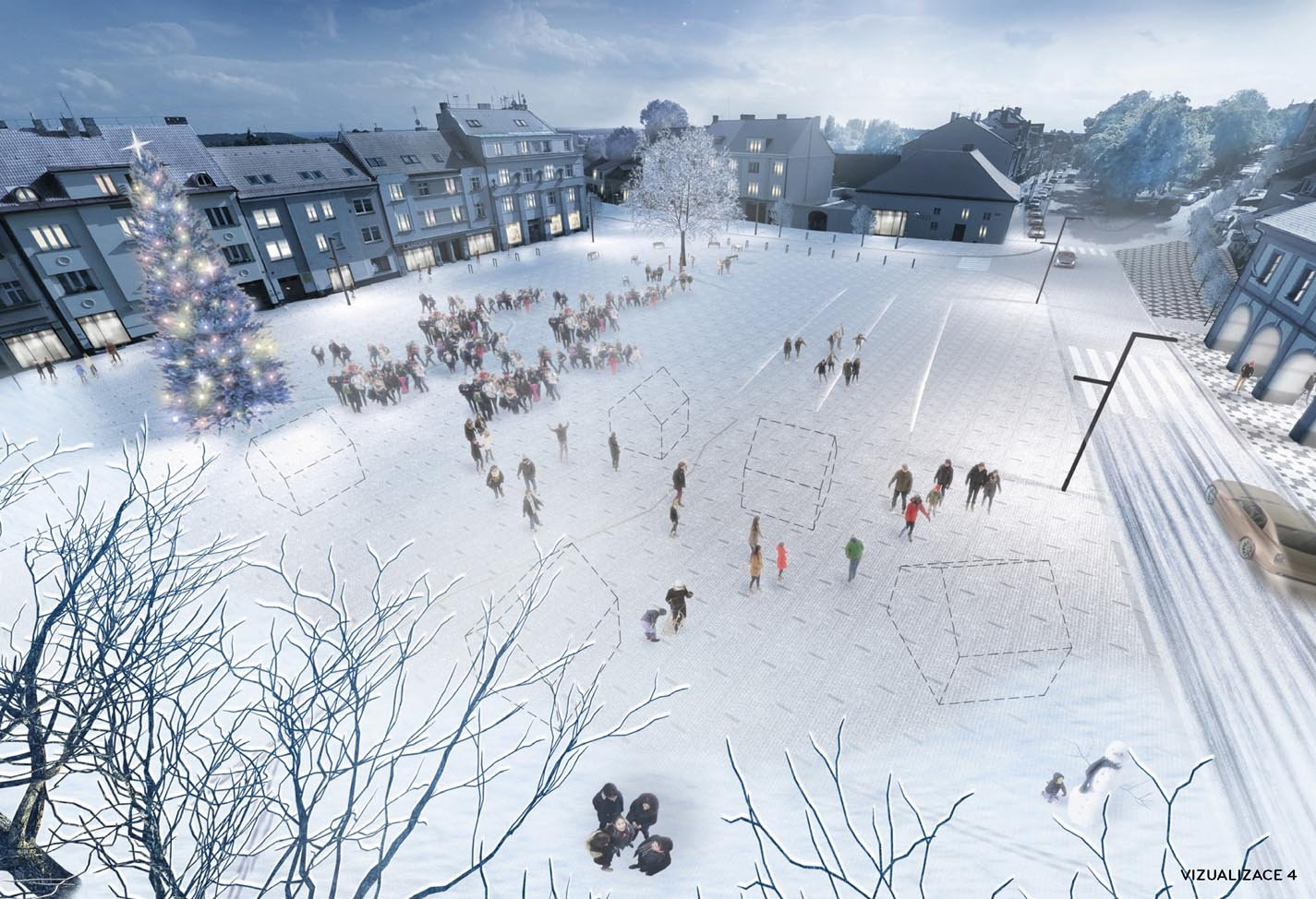 1st place in urban - architectural competition Lysa nad Labem